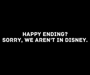 black and white, disney, and text image