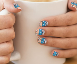 nail art, nails, and tribal image