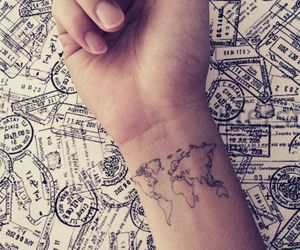 tattoo, world, and travel image