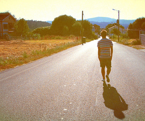 boy and road image