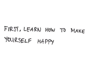 happy, quotes, and yourself image