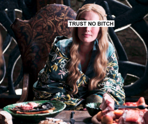 bitch, Queen, and cersei lannister image
