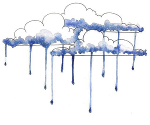 clouds, rain, and blue image