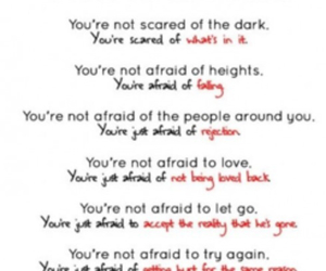 fear, quotes, and reality image