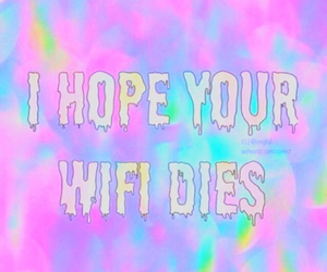 wifi, funny, and colors image