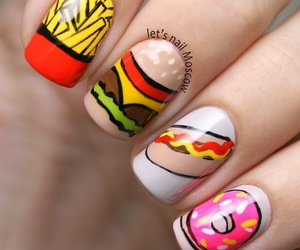 nails, beautiful, and food image