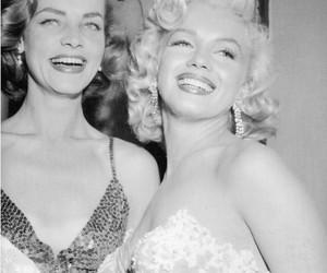 Marilyn Monroe, Lauren Bacall, and vintage image