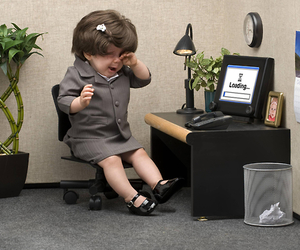 doll, work, and office image