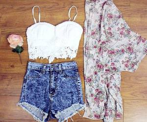 combination, crop top, and fashion image