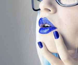 blue, lips, and nails image