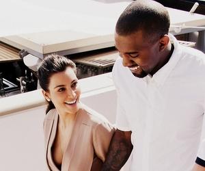 kim kardashian, kanye west, and love image