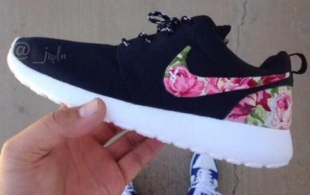 Shop - floral print running shoes - OFF