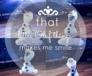 olaf, frozen, and smile image