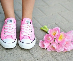 beauty, flower, and shoes image