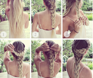 blonde, fashion, and braid image