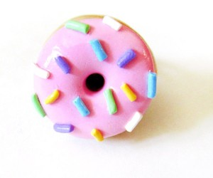 accessory, earrings, and donut image