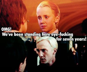 draco malfoy, drarry, and harry potter image
