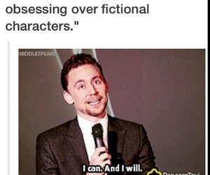 tom hiddleston, funny, and fictional characters image