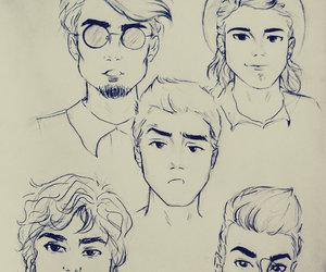 arte, boys, and cabelo image