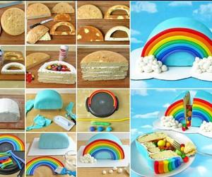 rainbow and cake image