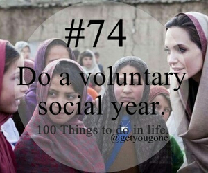 74, 100 things to do in life, and voluntary image