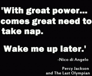 nico di angelo, quotes, and percy jackson image