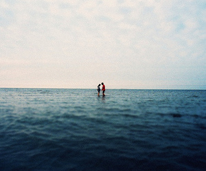 couple, sea, and ocean image