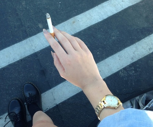 cigarette, grunge, and indie image