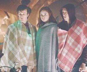 doctor who, karen gillan, and matt smith image