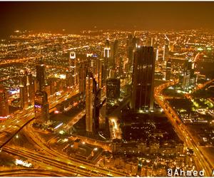 city, Dubai, and night image