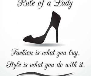 fashion, lady, and rules image