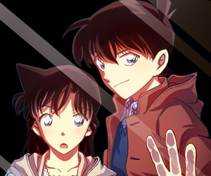 anime, detective conan, and behind glass image