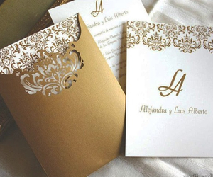 card, invitation, and wedding image
