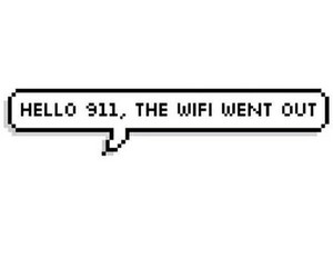 wifi, 911, and funny image