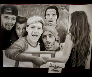drawing, 1d, and niall image