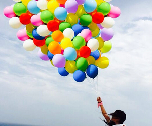 ballons, colors, and fly image