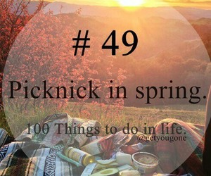 spring, 49, and 100 things to do in life image