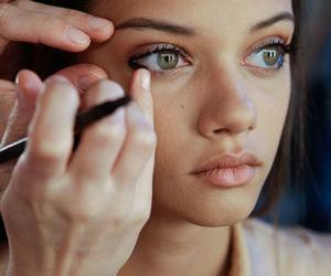 model, eyes, and make up image