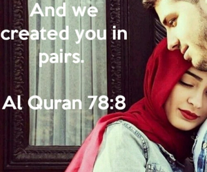 couple, islam, and quran image