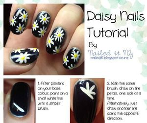 nails, flowers, and tutorial image