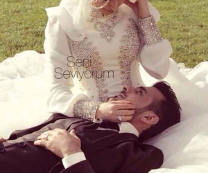 allah, couple, and muslim image