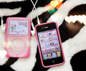 pink, ipod, and iphone image
