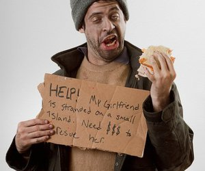 dress up, stereotype, and homeless man image