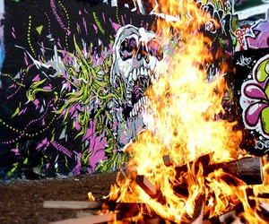 art, fire, and photography image