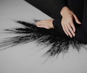 black, art, and hands image