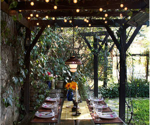 garden, light, and home image