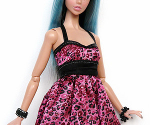 barbie, black, and blue hair image