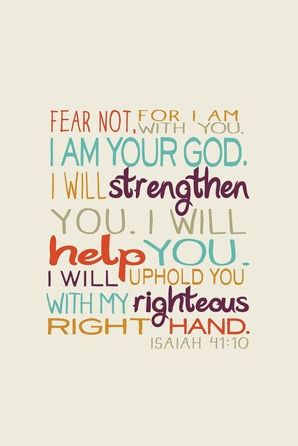 Fear Not God Is With Us On We Heart It