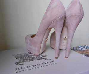 shoes, Burberry, and heels image