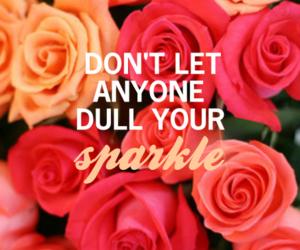 sparkle, quote, and rose image